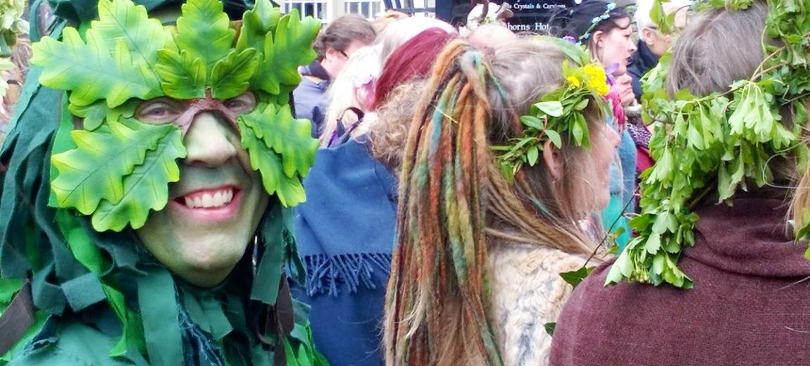 Glastonbury pagan festival celebrations