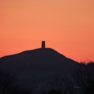 Glastonbury Tor in the summer