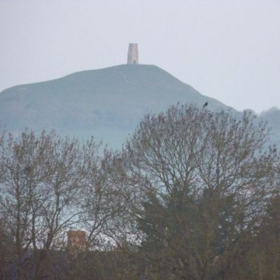 Winter view of Glastonbury Tor
